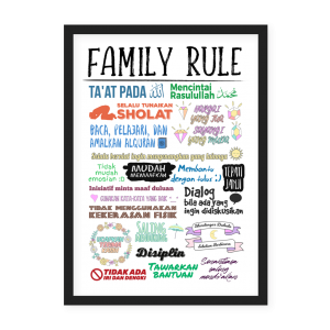 Jual Poster Family Rule
