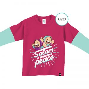 kaos anak islami murah AF203-Salam-is-spreading-peace