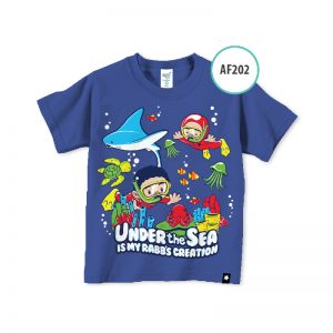 kaos anak muslim karakter AF202-Under-the-sea