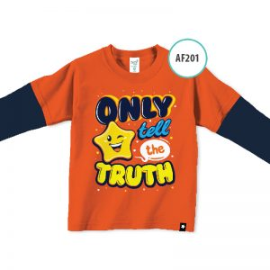 kaos anak muslim lucu AF201-Only-tell-the-truth
