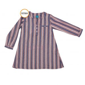 baju tunik anak perempuan FAT004_TUNIK-SINGLE-STRIP-MAROON-NAVY
