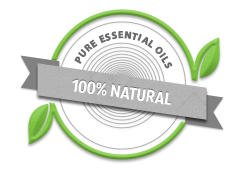 100% NATURAL PURE ESSENTIAL OILS BADGE