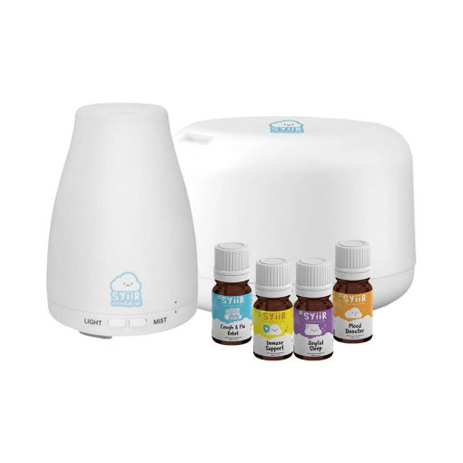 Starter Kit Paket 1 Diffuser 120 ml + 1 Diffuser 500 ml + 4 Botol Syiir Essential Oils