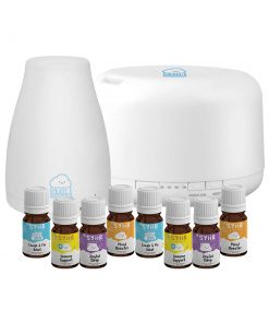 Starter Kit Paket 1 Diffuser 120 ml + 1 Diffuser 500 ml + 8 Botol Syiir Essential Oils