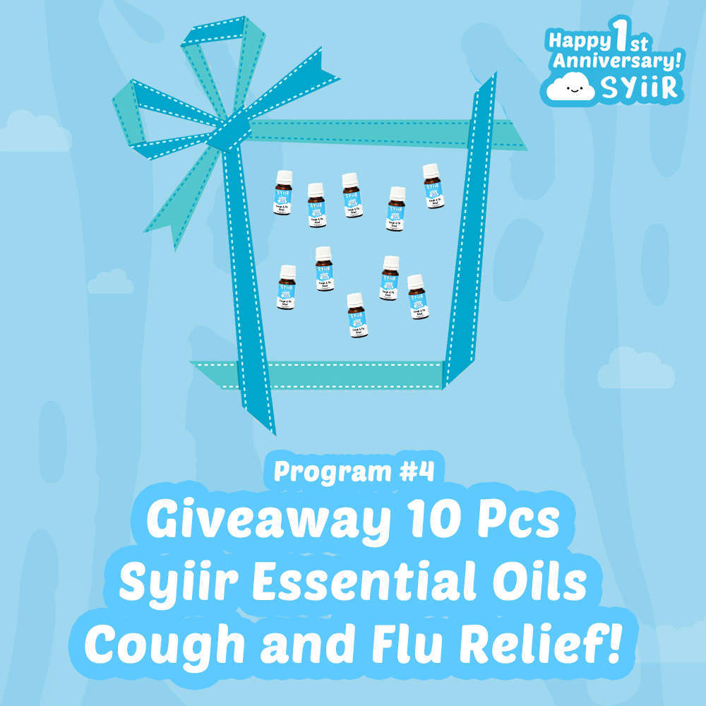 Giveaway 10 Pcs Syiir Essential Oils Cough and Flu Relief!