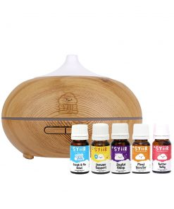 Starter Kit Paket 1 Diffuser 300 ml Wood Motif + 5 Botol Syiir Essential Oils